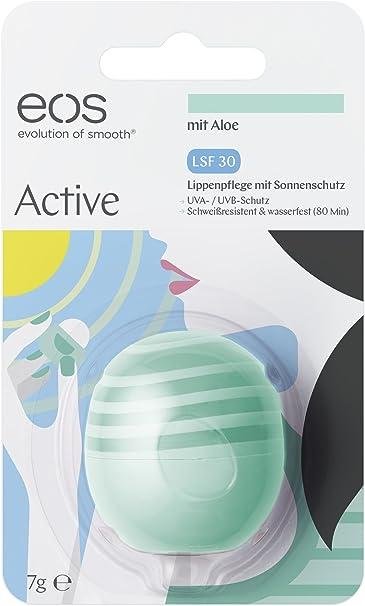 EOS Active Lip Balm con aloe SPF 30, 2 unidades (2 x 7 g): Amazon.es: Belleza