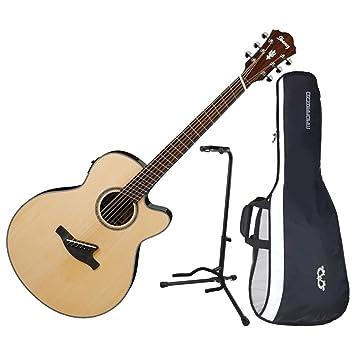 Ibanez aelff10nt fanned mástil acústica guitarra eléctrica Natural brillante w/funda y soporte: Amazon.es: Instrumentos musicales