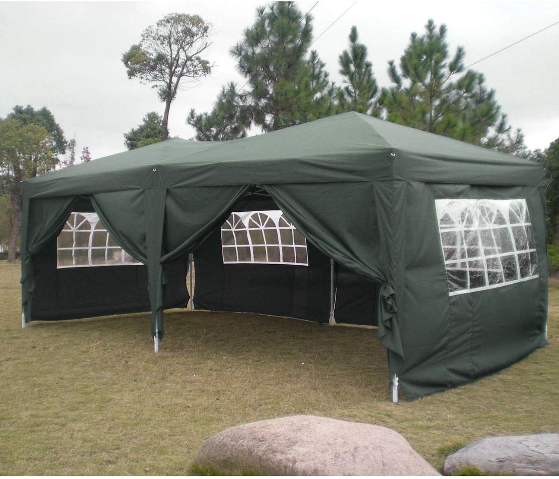 Profun Carpa Plegable 3x6M Carpas para Exteriores Impermeable con 6 Paredes Laterales y 4 Ventanas para Fiestas, Bodas, Jardin, Patio, al Aire Libre: Amazon.es: Jardín