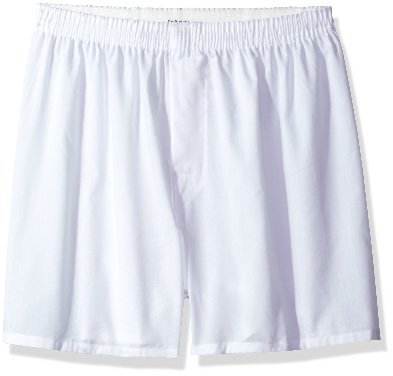 Fruit of the Loom Men's Woven Tartan and Plaid Boxer Multipack, White (5 Pack), XX-Large