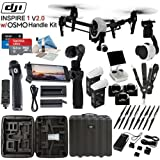 DJl lnspire 1 V2.0 with OSMO Handle Kit & eDigitalUSA Pro Kit: Includes Spare TB47B Battery, 4 Piece Filter Kit, SanDisk 64GB Extreme Pro MicroSD Card and more...