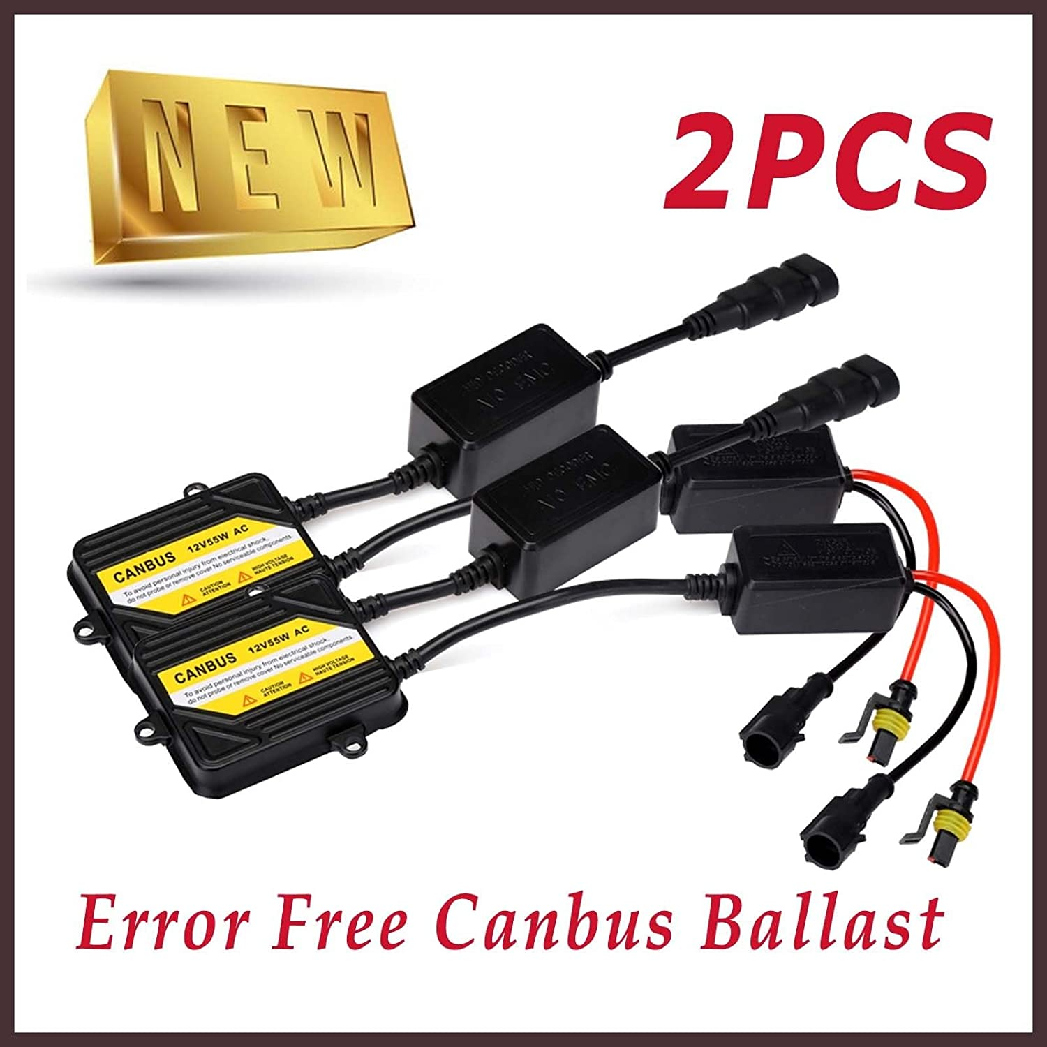 2Pcs 12V 55W Advanced CANBUS BALLAST - ERROR FREE HID Kit Bowose Factory