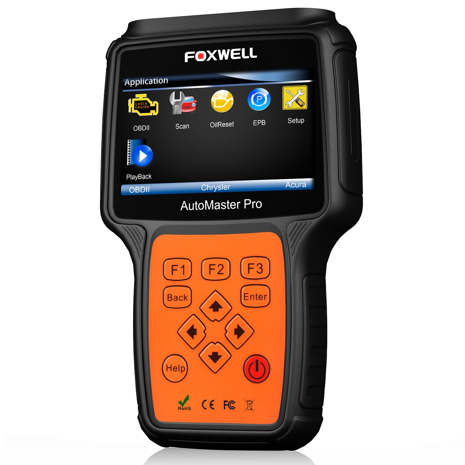 FOXWELL NT614 Automotive Scanner All Brand 4 System OBDII OBD2 Code Readers Check Engine ABS Airbag Transmission + EPB Oil Reset Car Diagnostic Tool by FOXWELL (Image #1)