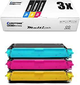 3X Eurotone Toner for Dell 3110 3115 Replaces 593-10171 - 593-10173 Color Cyan Magenta Yellow
