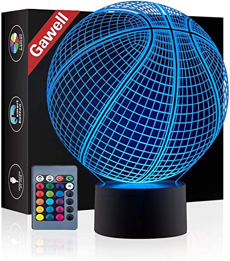 Amazon.com: Lámpara de ilusión 3D Gawell luz nocturna 7 ...