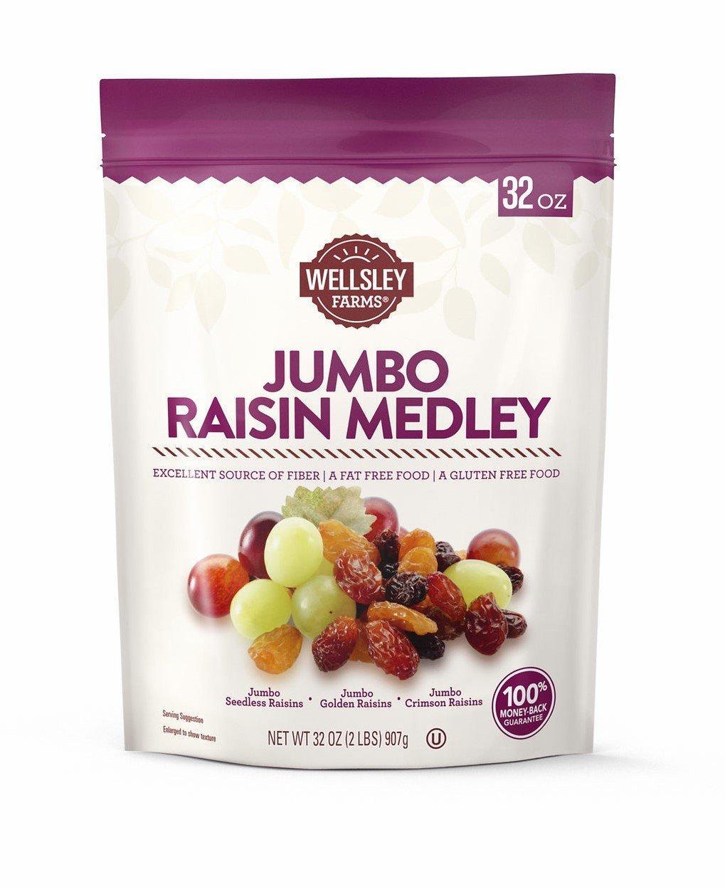 Wellsley Farms Jumbo Raisin Medley, 2 lbs. by Wellsley Farms