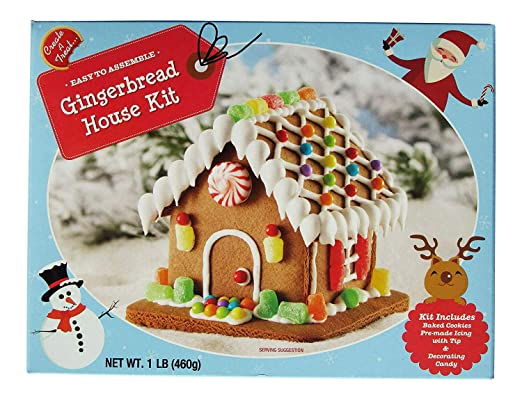 Christmas Gingerbread House Kit.Create A Treat Gingerbread House Kit With Decorating Candy Holiday Christmas Fun 1 Pound