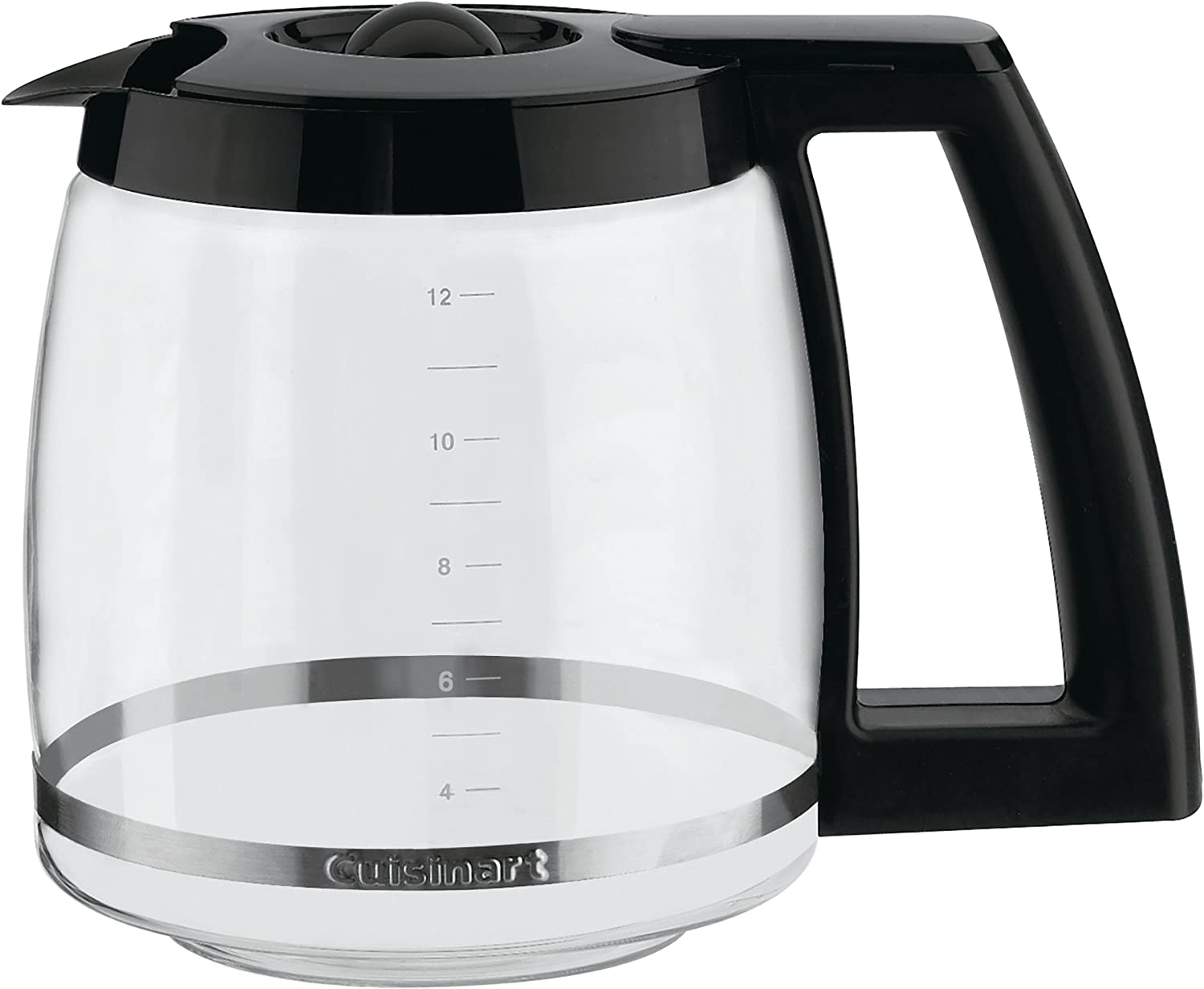 Cuisinart Dcc-1200Prc 12-Cup Replacement Glass Carafe, Black, 12 Cup