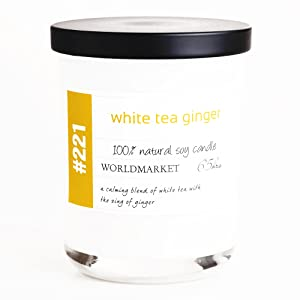 White Tea and Ginger Soy Filled Jar Candle 8 oz each