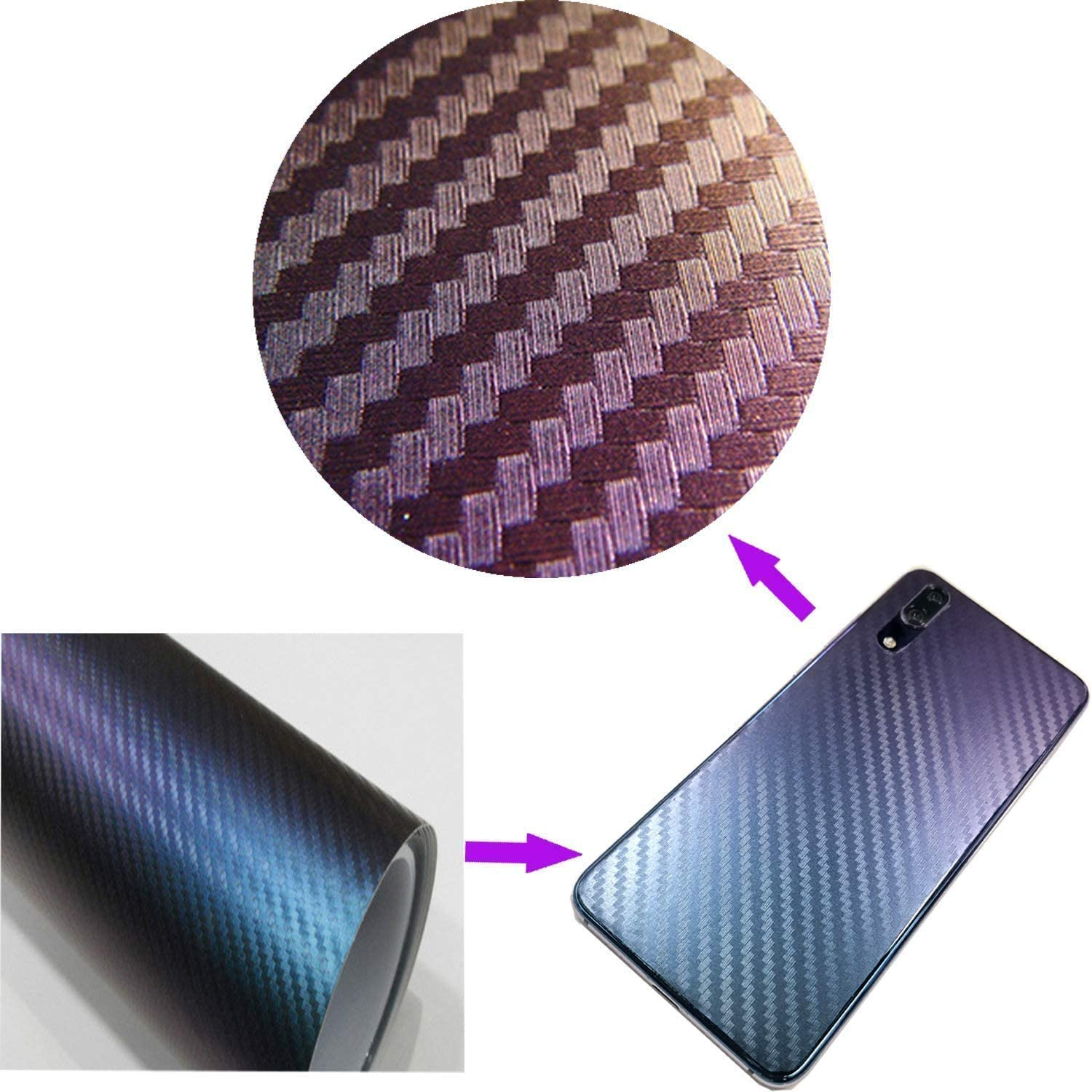 Lypumso Car Stickers 300 x 30 cm Suitable for Appearance /& Interior of Motorcycles Computers Cars Purple 6D Carbon Fibre Vinyl Car Stickers Self-Adhesive Waterproof Bubble-Free