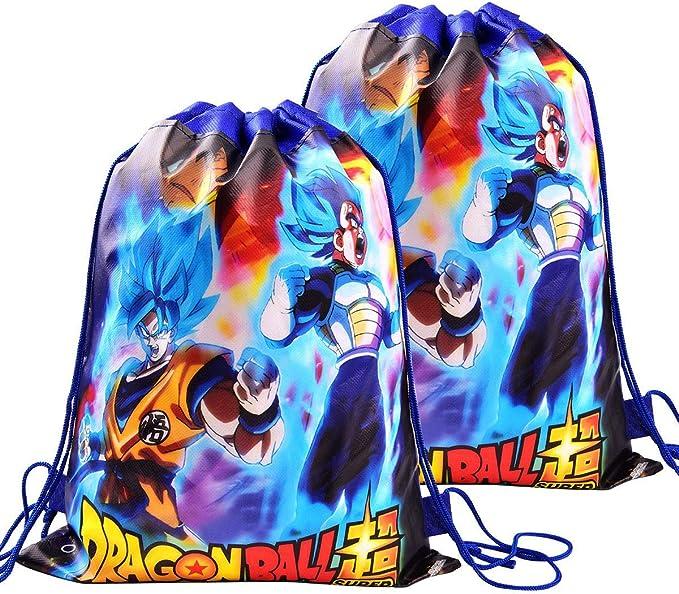 12 Piezas Para Bolsas De Regalo De Dragon Ball Goodie Suministros Para Fiestas De Cumpleaños Para Niños Doble Cara Dbz Super Saiyan Goku Gohan Character Party Decoraciones Toys Games