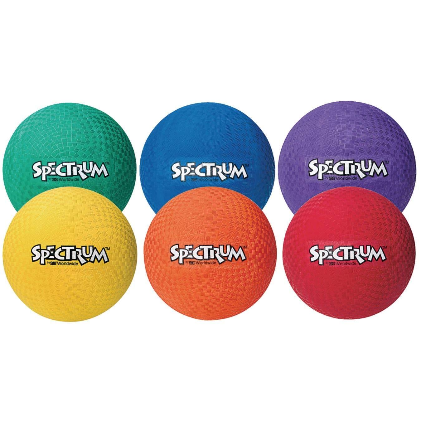 Spectrum 8-1/2'' Playground Balls (Set of 6) by Spectrum