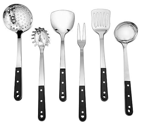 Amazon Com Kitchen Utensil Set P P Chef 6 Piece Cooking Utensils