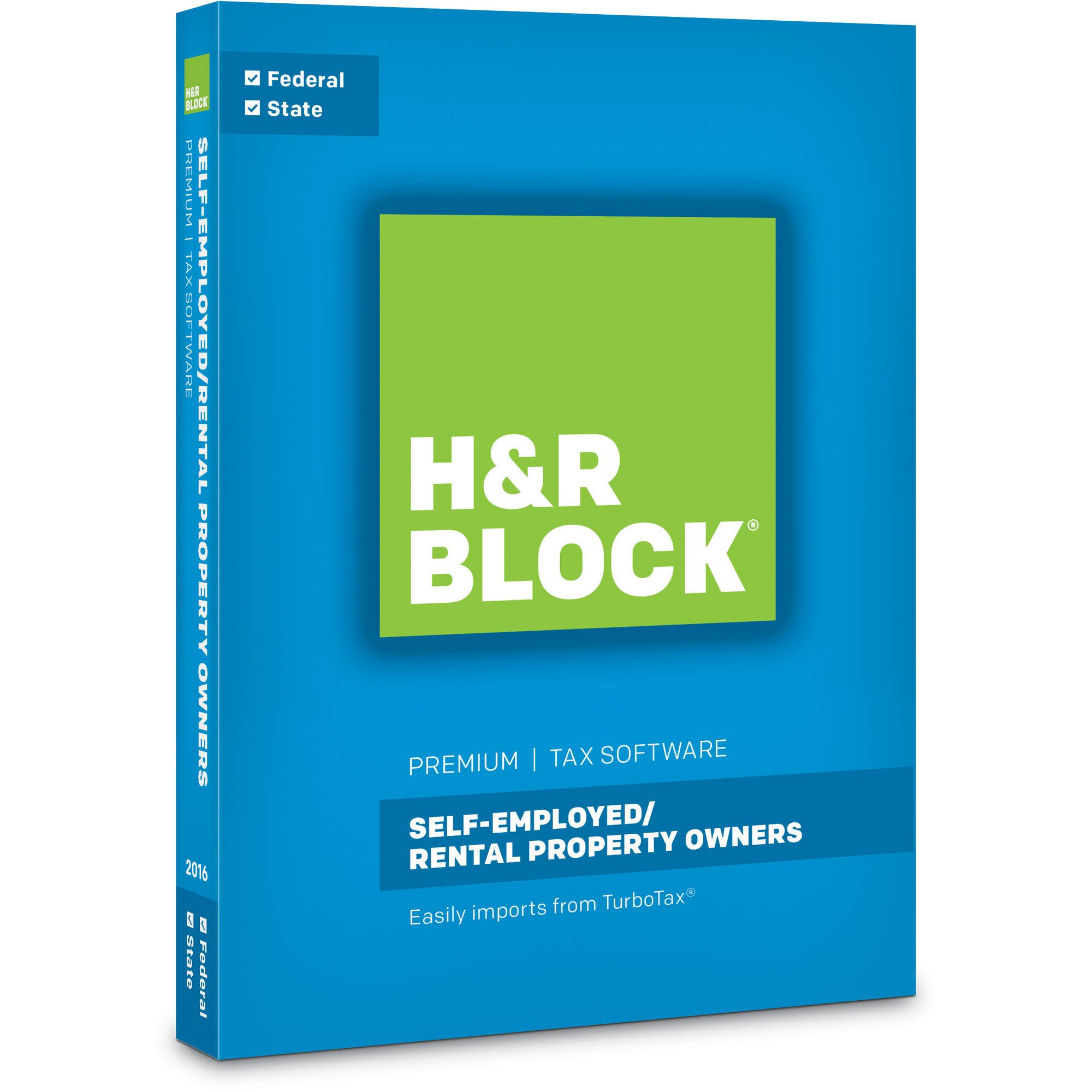 HR Block(R) Premium 2016 Tax Software, For PC/Mac, Traditional Disc by H&R Block