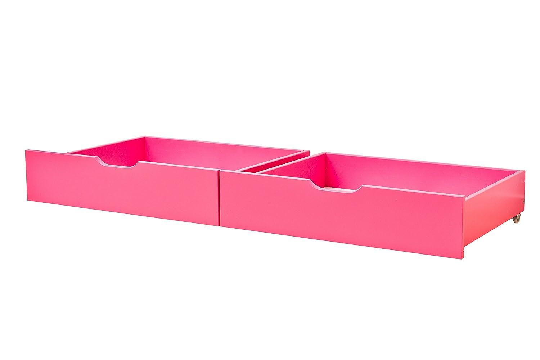 Hoppekids My Couleur 36–1006–76–000 Set de tiroir sur roulettes pour junior-lit d'enfant avec zone de 90 x 200 cm