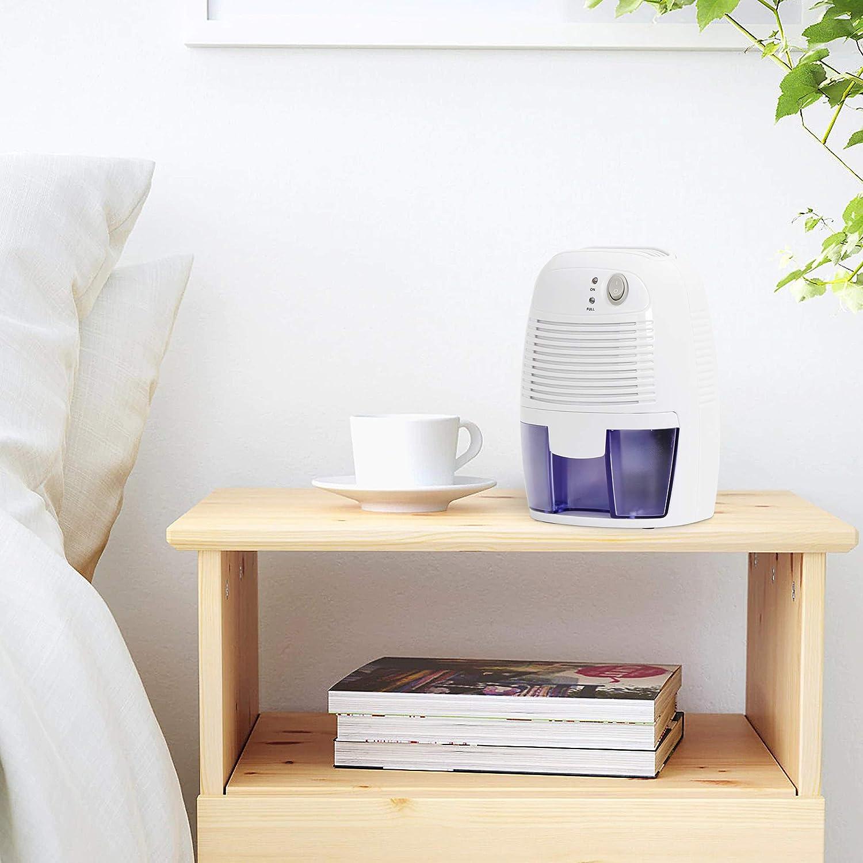 ZenStyle 1500 Cubic Feet Electric Mini Dehumidifier Home Moisture Absorber Mini Dehumidifiers with Auto Shut-Off, Damp Rid, Reduce Odor for Bedroom, Bathroom, Basement, Kitchen, Garage
