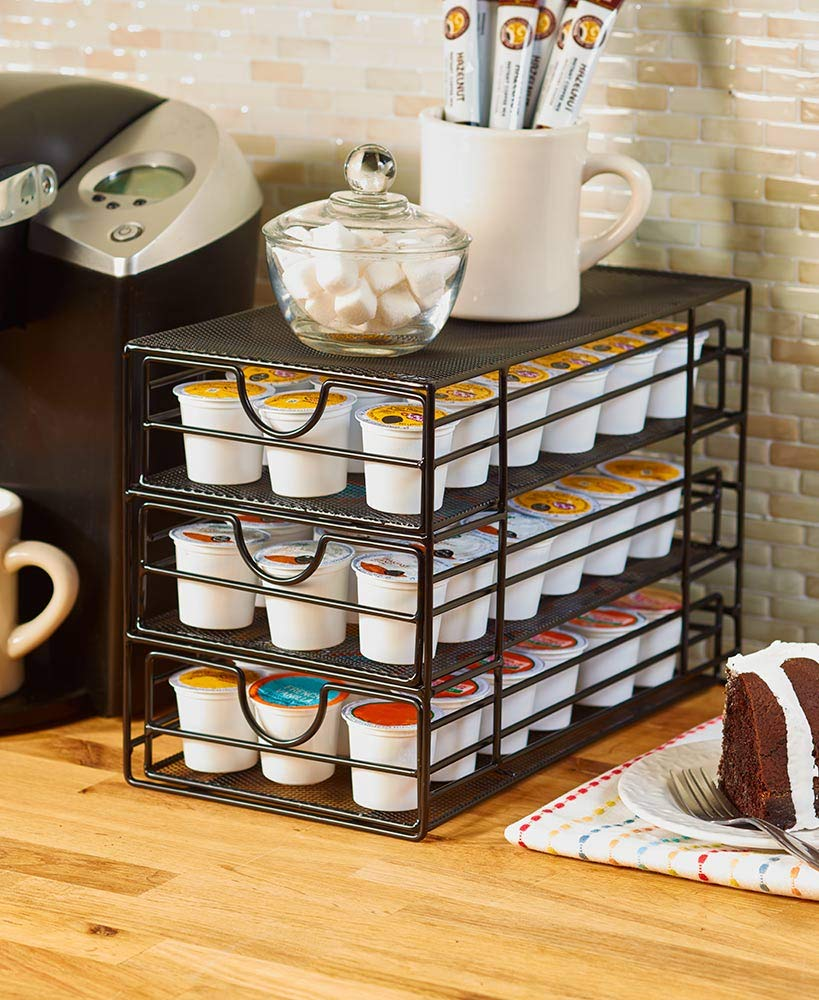 The Lakeside Collection Coffee Pod Storage - Black