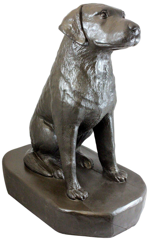 "Emsco Group 92302 Sitting Labrador Statue – Natural Appearance – Made of Resin – Lightweight – 31"" Height Garden, Bronze"