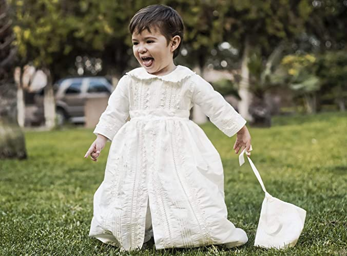 ff8356e44 Amazon.com: Baby boy Christening Gown Burbvus