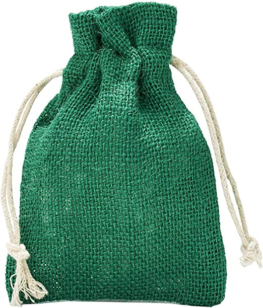 5 bolsas de yute con cordón de algodón. Tamaño: 50x40 cm, 100 ...
