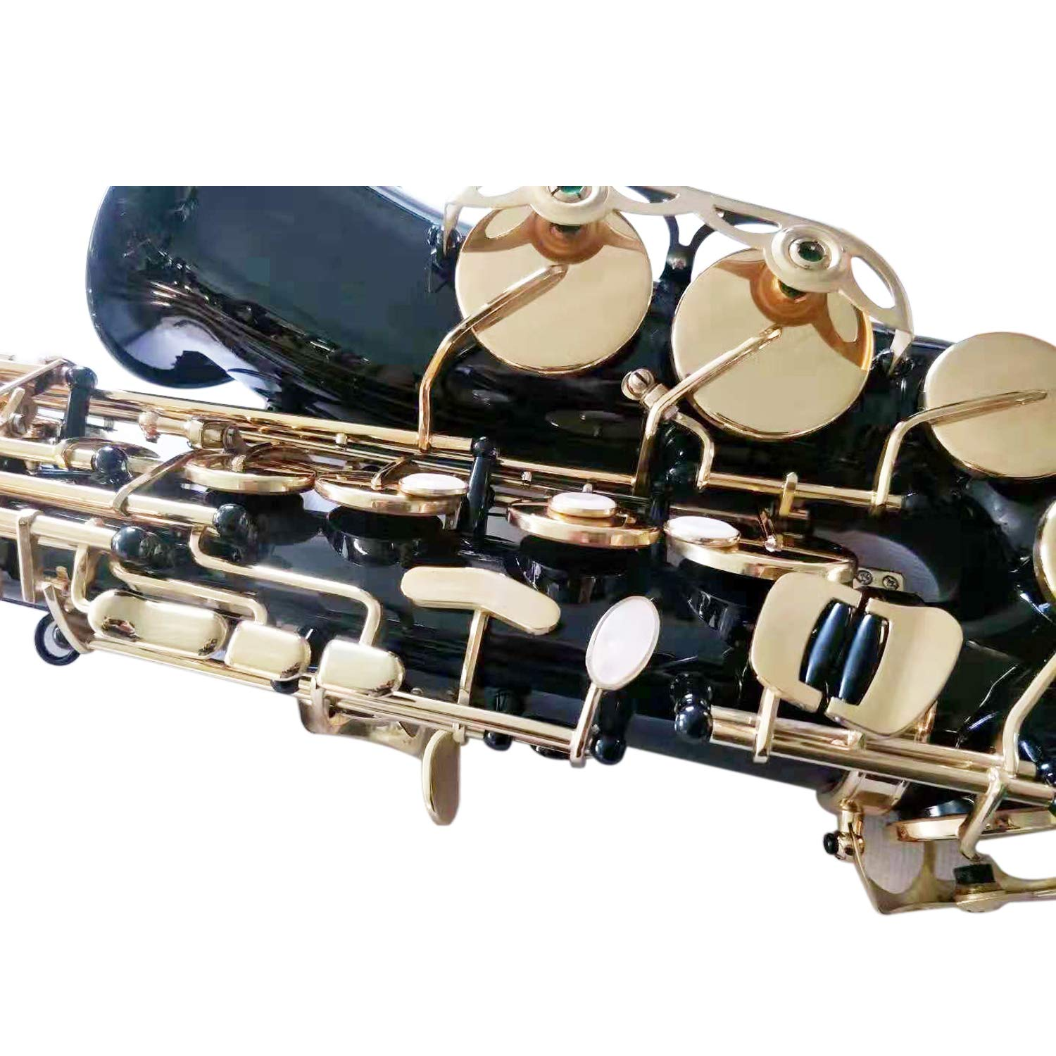 Flanger F-980 Black Nickel Plated Keys E Flat Professional Alto Saxophone with Tuner, Case, Mouthpiece by Flanger (Image #3)