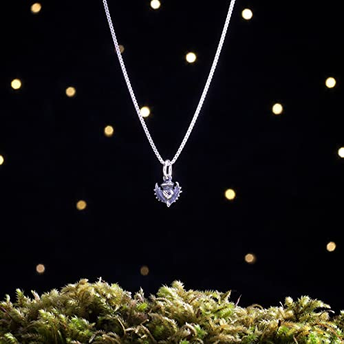 5253927b1 Image Unavailable. Image not available for. Color: Sterling Silver Scottish  Thistle - TEENY TINY ...