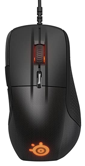 SteelSeries Rival 700, Optical Gaming Mouse, RGB Illumination, 7 Buttons,  OLED Display, Tactile Alerts, (PC/Mac) - Black