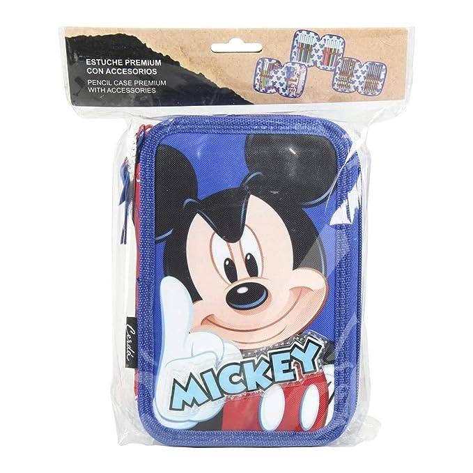 Amazon.com : Disney Mickey Giotto Triple Pencil case ...