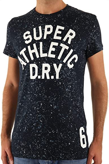 Superdry T shirt Splatter Aoc Eclipse Navy Couleur