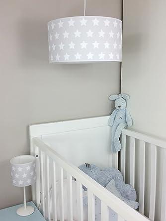 Lampara de techo infantil/Lampara colgante bebe/Lampara para habitacion infantil (Gris)