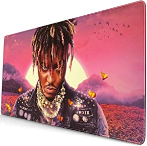 R.I.P. Juice-Wrld-Legends Never Die Game Mousepad Gaming Mouse Pad Keyboard Ergonomic Mat Gamepad with Stitched Edge Wrist Support Rests Big Office Desk for Pc Computer Laptop 15.8x29.5 in