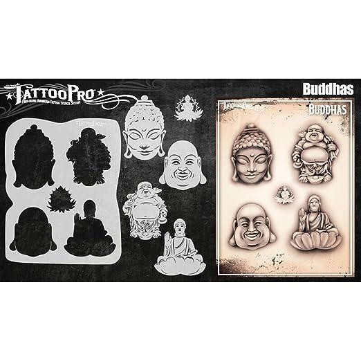 Tatuaje Pro Plantillas Serie 5 - Buddahs: Amazon.es: Hogar