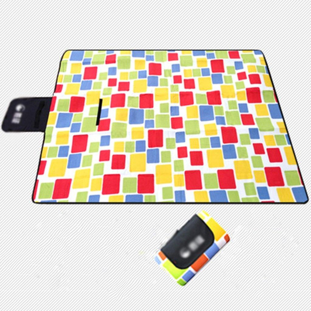TYJ Picknick-Decken Acryl Picknick-Matten Feuchtigkeitsfeste Pad Im Freien Camping Portable Mats Park Kissen Crawling Mat Grid