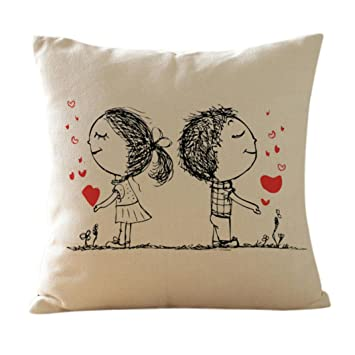 valentine pillow covers mostsola painting linen cushion throw pillow cushion covers valentines day gift