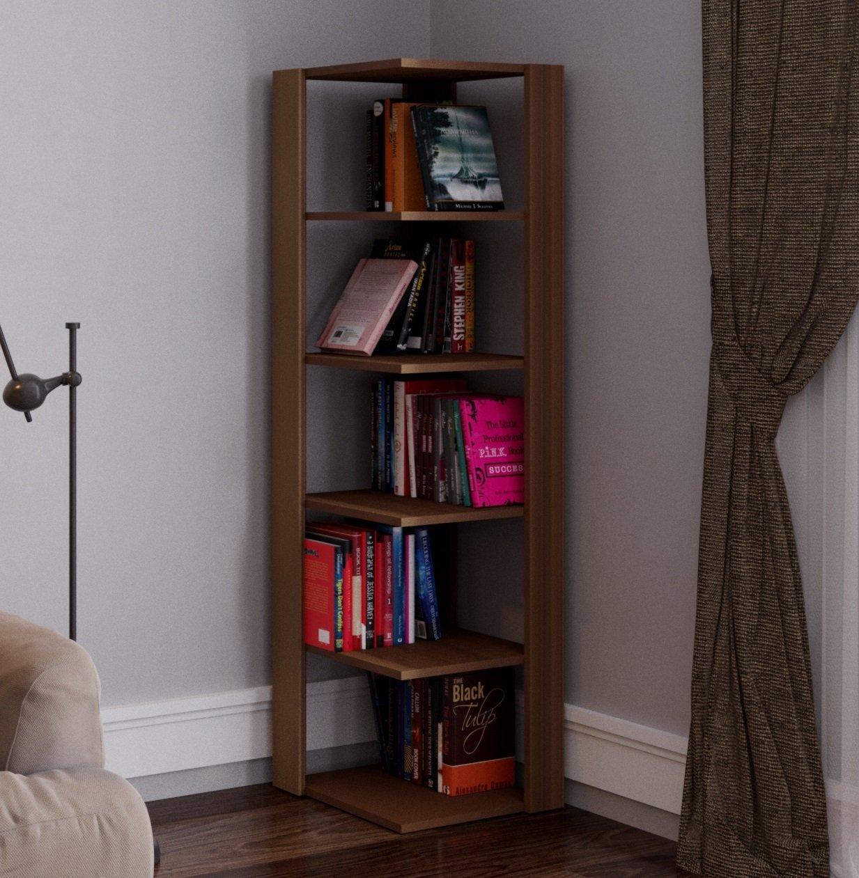 ANKLE Bibliothèque - Étagère de Rangement - Étagère d'angle - Étagère pour bureau - salon par le design moderne