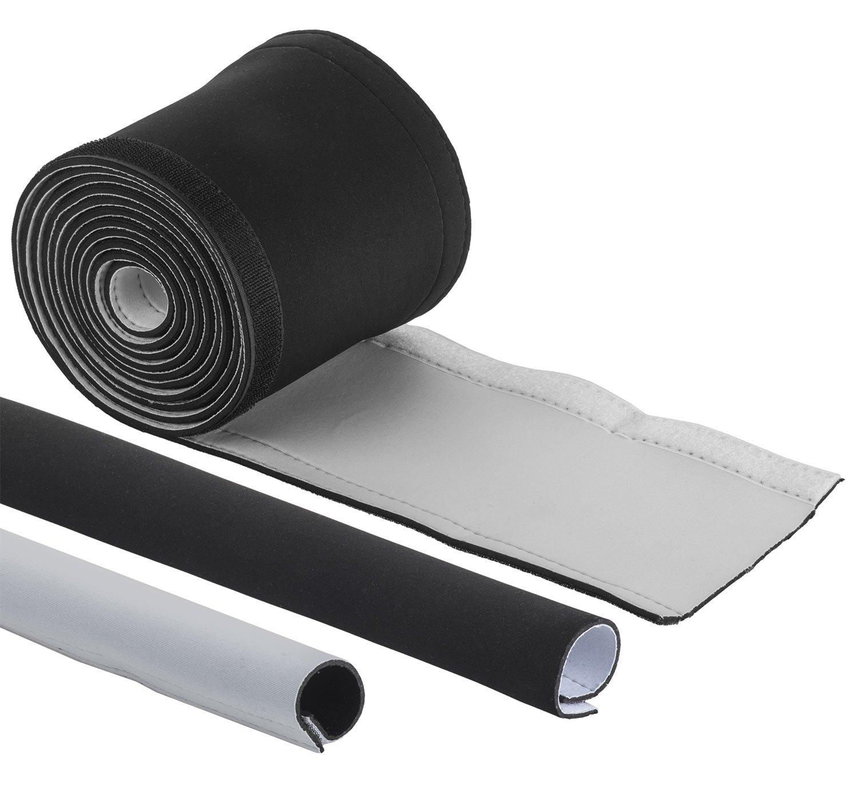 Tubo cavo cavo canale exeta 3m di neoprene con Velcro di gestione del Canale Via Cavo Cavo Audio per TV–nascosta, Esso, e protegge cavo–nero (300x 13.5cm) yayago