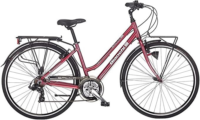BIANCHI City Bike 28 tacón Rubí 21 V Mujer Burdeos, mujer, burdeos ...