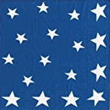 Entertaining with Caspari Stars and Stripes Paper Cocktail Napkins, Pack of 20