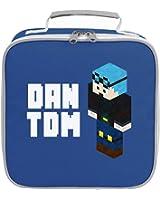 Dantdm Dan The Diamond Minecart Blue Hair 3D Standing Player Skin Lunch Bag