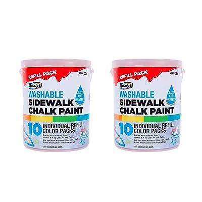 Rose Art Sidewalk Chalk Bundle: Sidewalk Chalk Paint Bucket Refill x2: Office Products