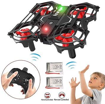 Mini Drone para Niños, RC Aviones con Toss / Shake Take Off Gesto ...