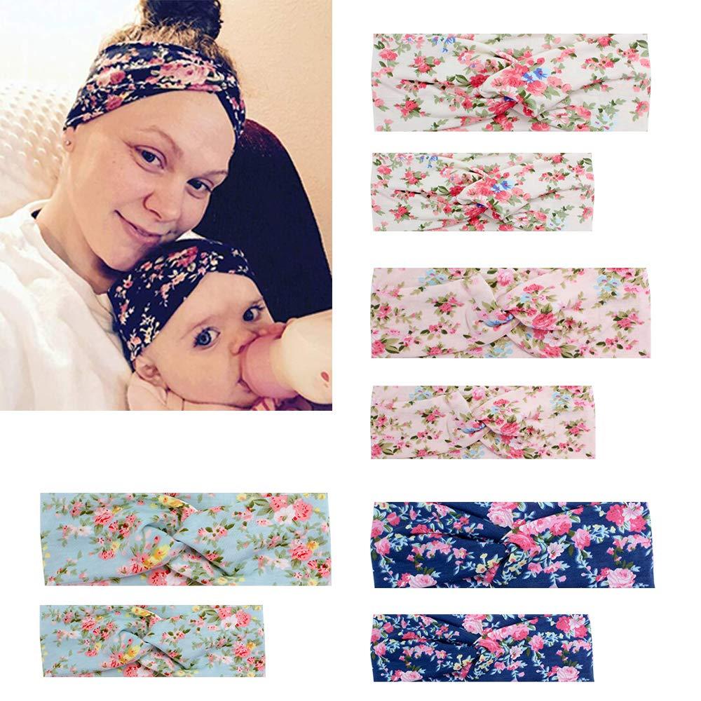 Kolamom Parent Child Headbands, Baby Mom Hair Bands Toddler Hair Infant Headwear