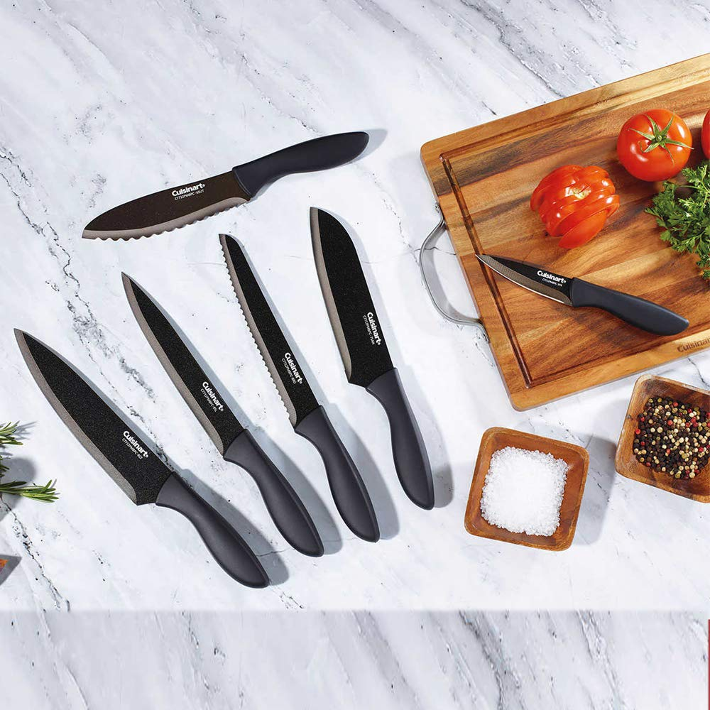 Cuisinart Black Metallic Knife Set, 6-Piece