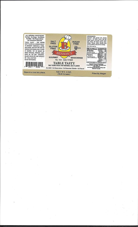 Amazon : Table Tasty No Potassium Chloride Salt Substitute 2 Oz Bottle  : Salt And Salt Substitutes : Grocery & Gourmet Food
