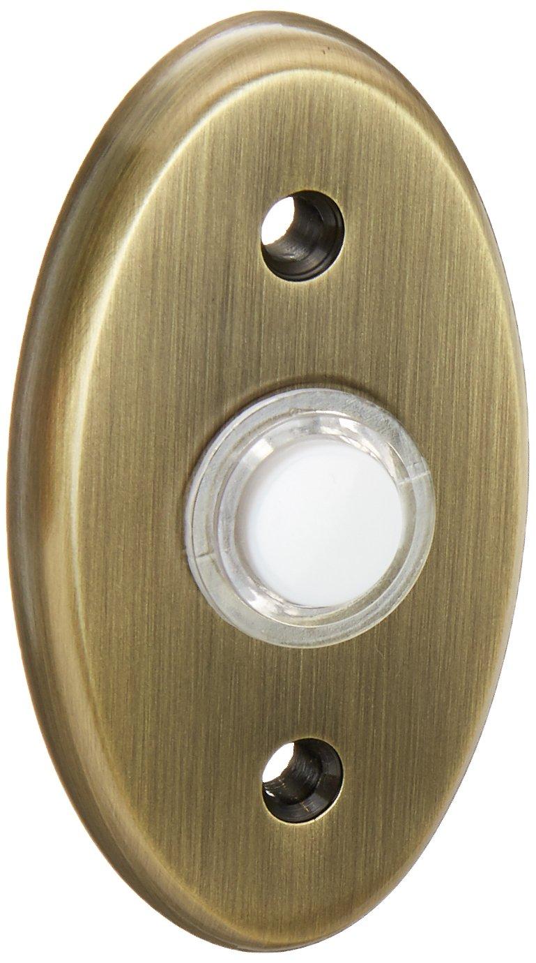Baldwin 4858050 Oval Bell Button Antique Brass
