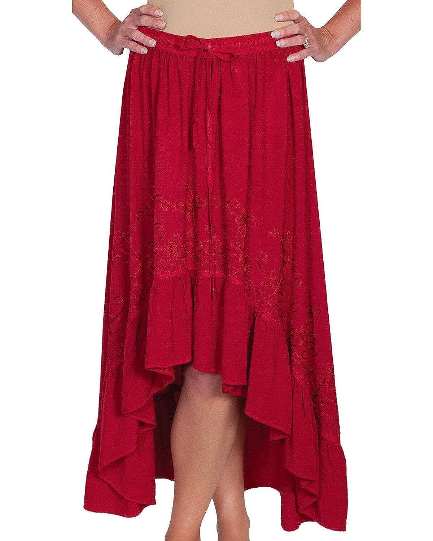 Scully Womens High-Low Maxi Skirt Hc165-Den 1530821