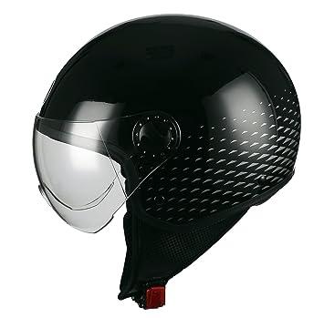 BHR Casco Moto Demi-Jet Linea One 801, Dark Glamour, XS (54