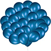 Eshanmu 100 pcs 12 inch Blue Pearl Latex Balloon for Boy Girl Party for Activity Campaign (Blue)
