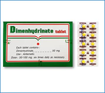 Dimenhydrinate Tablet 50mg (Dimenhydrinate 100 X 10's