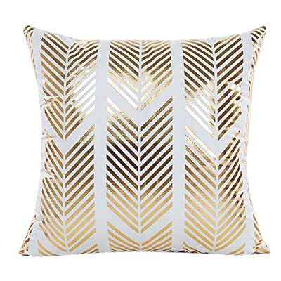 Elaco Holiday Relax Gold Foil Printing Pillow Case Sofa Waist Throw Cushion Cover Home Decor (B) : Garden & Outdoor